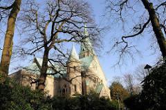 Ev. luth. Christuskirche - gestiftet vom Bankier C.H. Donner - 1900 errichtet, ARchitekt Albert Petersen.