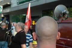 Neonazis wollten in Hamburg Eimsbüttel in der Osterstrasse eine Kundgebung abhalten.
