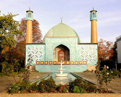 Imam Ali Moschee an der Alster in Hamburg Uhlenhorst - die Moschee wurde 1965 fertig gestellt und ist die viertälteste Deutschlands.