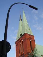 Bilder der Hamburger Kirchen - St. Petri Kirche Altona Altstadt.
