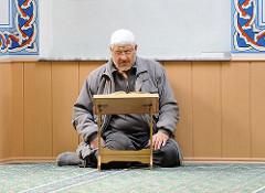 Bilder aus der Harburger Moschee Eyüp Sultan - Gebetsraum