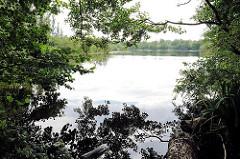 See im Achtermoor in der Boberger Niederung vom Hamburg Lohbrügge - durch Torfstich entstanden zwei Teiche im Lohbrügger Achtermoor.