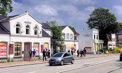 Abrisshäuser an der von-Sauer-Strasse in Hamburg Bahrenfeld.