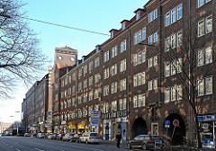 Hamburger Architektur der 20er Jahre Klinkerhäuser, Ziegelgebäude in der Steinstrasse Altstädter Hof.