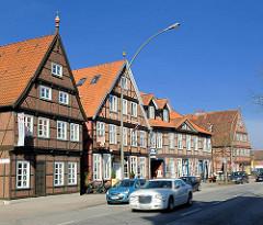 Historische Fachwerkhäuser in der Harburger Schlossstrasse, erbaut im 17. Jahrhundert - Denkmalschutz.