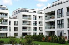 Neubauwohnungen - Wohnanlage Husarenhof Hamburg Wandsbek, Stadtteil Marienthal.