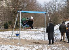 Bilder aus Altona - Möllers Park im Winter.