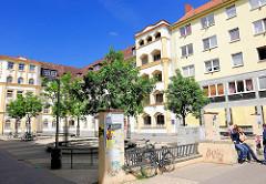Expressionistische Architektur in Hamburg Wilhelmsburg; erbaut 1925, das Gebäudeensemle steht unter Denkmalschutz.