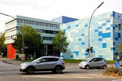 Gebäude Staatsarchiv der Freien und Hansestadt Hamburg im Stadtteil Wandsbek - 1998 errichtet, Architekt Jan Störmer.