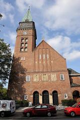 Versöhnungskirche im Hamburger Stadtteil Eilbek - 1920 erbaut, Architekt Fernando Lorenzen.