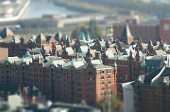 Kupferdächer der Speicherstadt Hamburg.