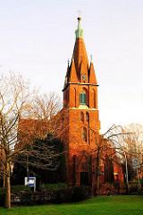 St. Nikolaikirche Hamburg Finkenwerder - neugotische Kirche 1881 erbaut
