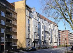 Gründerzeitarchitektur - Gründerzeitwohnhäuser in der Kieler Strasse, Hamburg Altona