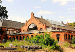 Historische Architektur in Hamburg Eimsbüttel - Schwimmbad Hohe Weide.