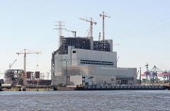 Baustelle des Kohlekraftwerks an der Süderelbe Hamburg Moorburg