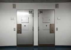 Gefängnistüren Justizvollzugsanstalt Hochsicherungsgefängnis Hamburg Billwerder.