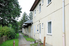 Ehem. Sozialwohnungen aus den 1930er Jahren - leerstehende Wohnanlage in Hamburg Neuland.