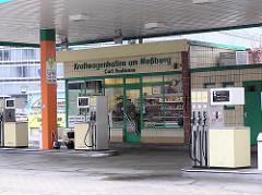 Ehemalige Tankstelle Kraftwagenhallen am Messberg - bei der Ericusspitze in der jetzigen Hamburger Hafencity ca. 2007