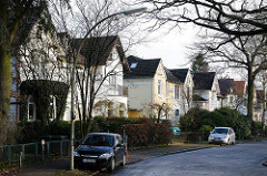 Einzelhäuser in der Gottorpstrasse - Wohnhäuser in dem Elbvorort Othmarschen.