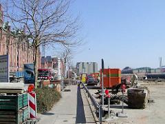 Vorbereitungen zur Bebauung des Sandtorkais am Sandtorhafen in der Hamburger Hafencity (2003)