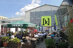 Gastronomie mit Terrasse auf Kampnagel - Bilder aus Hamburg Winterhude.