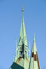 Kupferturm der St. Johanniskirche in HH-Rotherbaum.