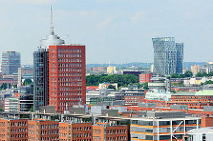 Büroturm HTC am Kehrwiederfleet - Tanzende Türme an der Reeperbahn - Fotos aus Hamburg.