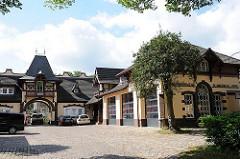 Gebäude der 1878 gegründeten Freiwilligen Feuerwehr von Hamburg Blankenese.