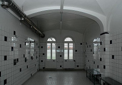 Duschraum Abschiebegefängnis Hamburg Fuhlsbüttel.