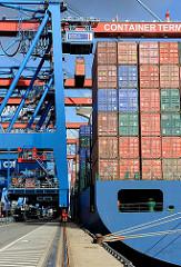 Container Hafen Hamburg Terminal Altenwerder.