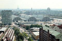 Luftaufnahme Gemüsehallen - Gemüsegrossmarkt - Hamburger Grossmarkthallen in Hammerbrook.