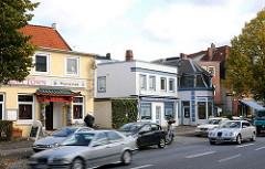 Strassenverkehr und Geschäfte Borsteler Chaussee