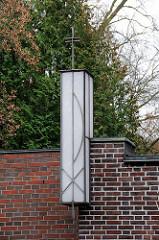 Lampe Paulus Augustinus Kirche Stadtteil Gross Flottbek.