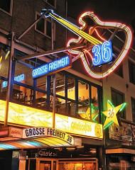 Musikclubs in Hamburg St. Pauli - Grosse Freiheit 36.