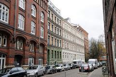 Etagenhäuser, Wohngebäude Hammberbrooker Rosenstrasse.