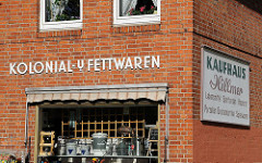 Stadtteilfotos aus Hamburg Bergstedt Kolonialwaren, Fettwaren am Wohldorfer Damm
