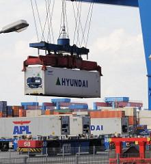Containerhafen Hamburg HHLA Terminal Altenwerder.