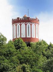 Historischer Wasserturm Hamburg Lohbrügge - der 38m  Wasserturm wurde 1907 fertig gestellt und arbeitete bis 1972.