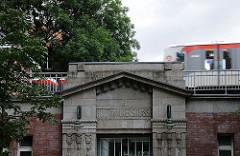 Winterhuder Hochbahnstation - historischer Bahnhof Hudtwalckerstrasse.