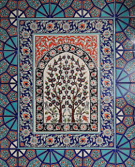 Kachelverzierung im Gebetsraum - osmanisch türkisches Dekor