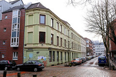 Historismus Architekturstil, Wohnhäuser in Hamburg Altona.