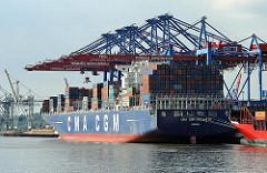 Containerschiffe im Hamburger Hafen - Burchardkai