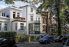 Stadtvilla - Historismus Archtiektur, Einzelhäuser in der Wrangelstrasse / Hohelufter Generalsviertel.