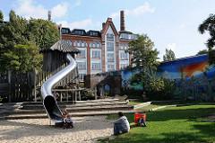 Kinderspielplatz Rutsche - Gaertnerstrasse - ehem. Strassenbahndepot - Tabakfabrik.