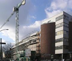 Baustelle an der Simon von Utrecht Strasse - Talstrasse; ehemalige Terrassenhäuser in Hamburg St. Pauli.