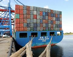 Containerschiff Terminal Altenwerder Ballinkai