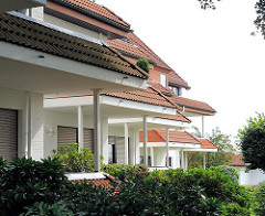 Gestaffelte Terrassen und Balkons - Wohngebäude im Hamburger Stadtteil Lohbrügge - Architeturfotografie aus Hamburgs Stadtteilen.
