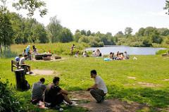 Grillplatz im Harburger Stadtpark - Bilder aus Hamburg Wilstorf.