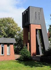 Kirchturm / Glockenturm der Evang. Luth. St. Petrus Kirche / Haakestrasse.