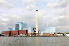 Kraftwerk Tiefstack an der Billwerder Bucht von Hamburg Billbrook - Industriefotografie in Hamburg.